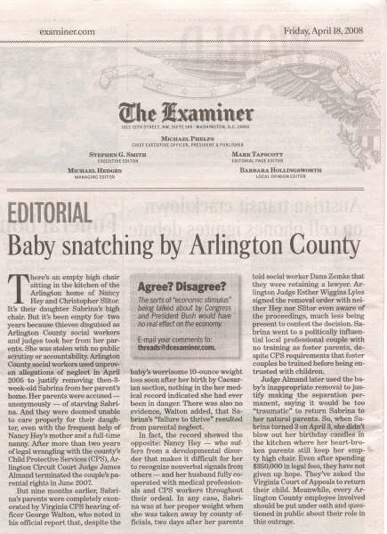 Baby Snatching by Arlington County